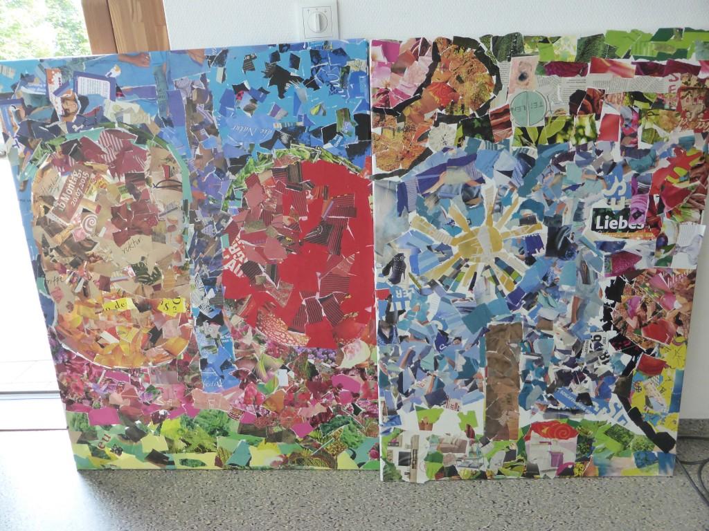 Collage aus Papier, Flickwerk